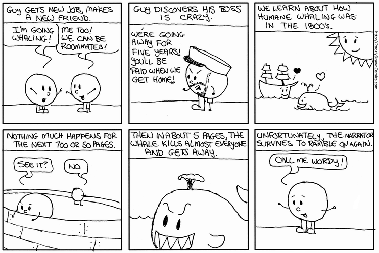 Moby Dick In Six Panels