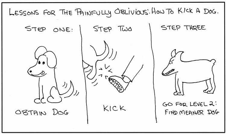 How To Kick A Dog